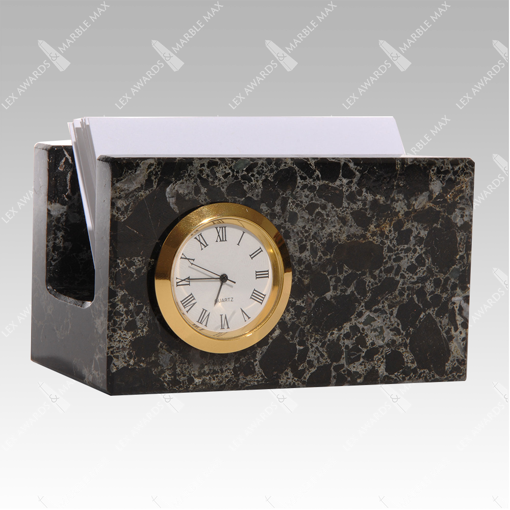 Business Card Holder W Clock Gifts And Accessories From Lex